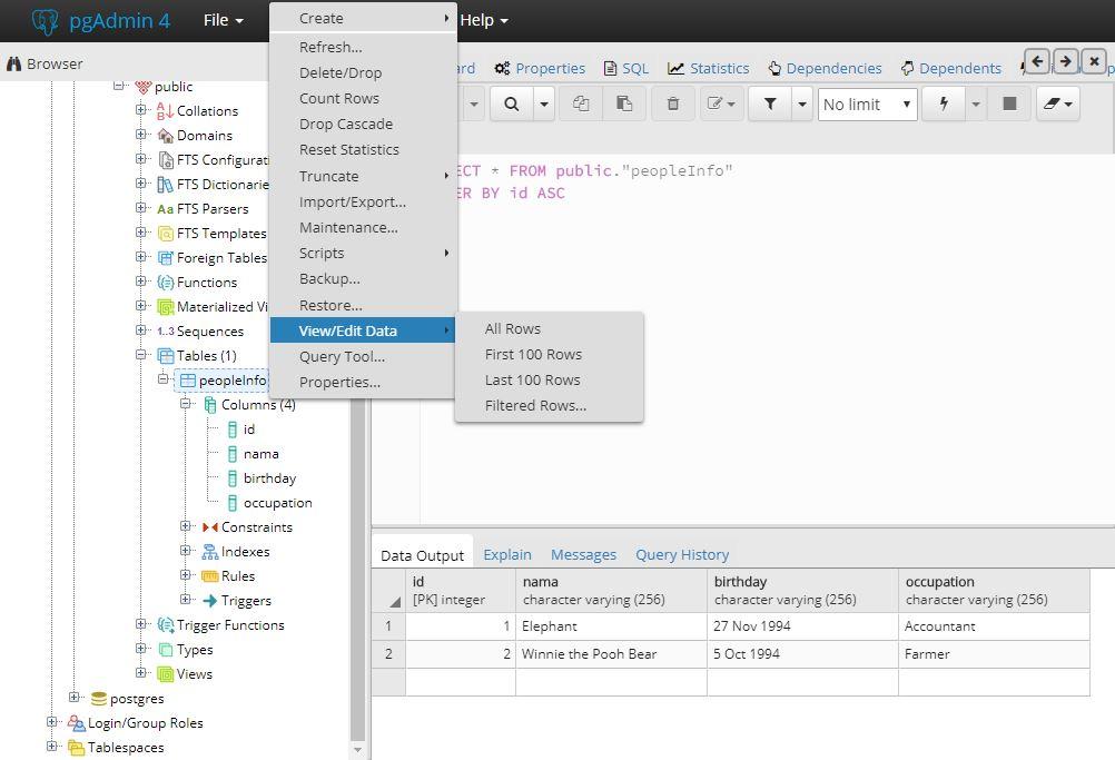 Golang Web Application with PostgreSQL Signal Processing & Machine